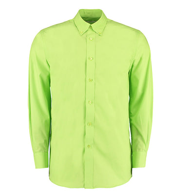 Kustom Kit KK140 Men's Workforce Long Sleeve Shirt Lime