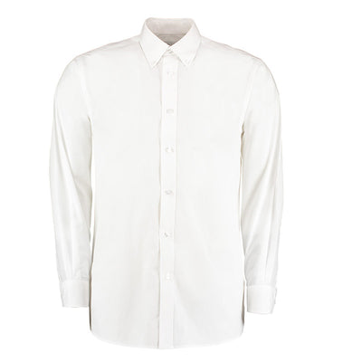 Kustom Kit KK140 Men's Workforce Long Sleeve Shirt White