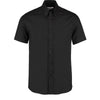 Kustom Kit KK187 Men's Short Sleeve Tailored Fit Premium Oxford Shirt Black