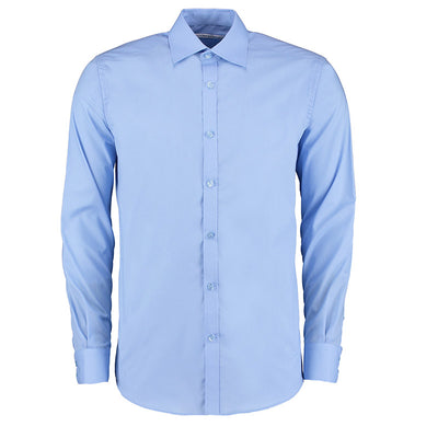 Kustom Kit KK192 Men's Slim Fit Long Sleeve Business Shirt Light Blue