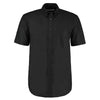 Kustom Kit KK350  Men's Workwear Short Sleeve Oxford Shirt Black