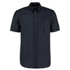 Kustom Kit KK350  Men's Workwear Short Sleeve Oxford Shirt French Navy