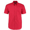 Kustom Kit KK350  Men's Workwear Short Sleeve Oxford Shirt Red