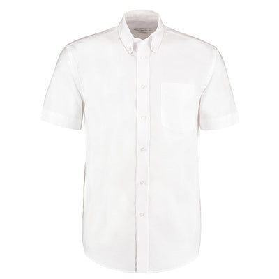 Kustom Kit KK350  Men's Workwear Short Sleeve Oxford Shirt White