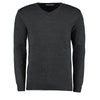 Kustom Kit KK352 Men's Arundel Long Sleeve V-Neck Sweater Graphite