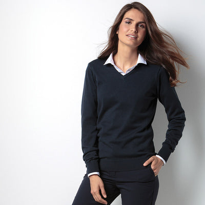 Kustom Kit KK353 Ladies' Arundel Long Sleeve V-Neck Sweater