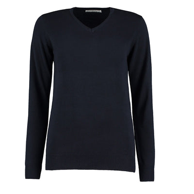 Kustom Kit KK353 Ladies' Arundel Long Sleeve V-Neck Sweater Navy