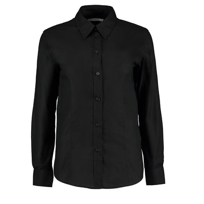 Kustom Kit KK361 Ladies' Workwear Long Sleeve Oxford Shirt Black