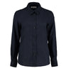 Kustom Kit KK361 Ladies' Workwear Long Sleeve Oxford Shirt French Navy