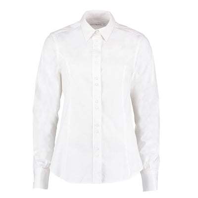 Kustom Kit KK388  Ladies' City Long Sleeve Business Shirt White