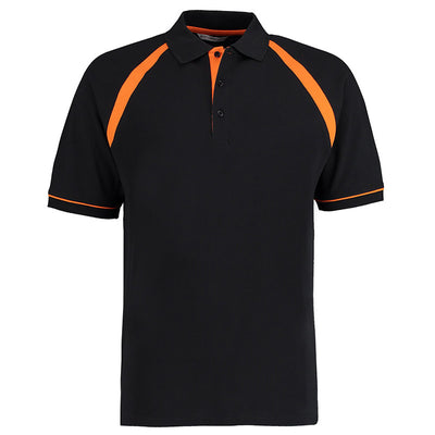 Kustom Kit KK615 Oak Hill Polo Shirt Black / Orange