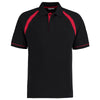 Kustom Kit KK615 Oak Hill Polo Shirt Black / Bright Red