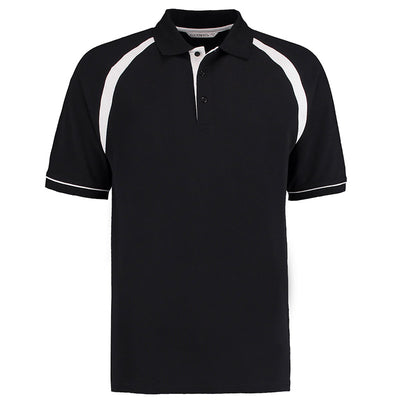 Kustom Kit KK615 Oak Hill Polo Shirt Black / White