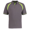 Kustom Kit KK615 Oak Hill Polo Shirt Charcoal / Lime