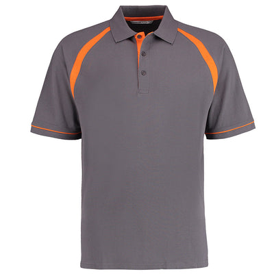 Kustom Kit KK615 Oak Hill Polo Shirt Charcoal / Orange