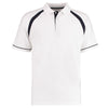 Kustom Kit KK615 Oak Hill Polo Shirt White / Navy
