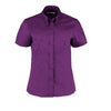 Kustom Kit KK701 Ladies' Corporate Short Sleeve Oxford Shirt Dark Purple