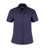 Kustom Kit KK701 Ladies' Corporate Short Sleeve Oxford Shirt Midnight Navy