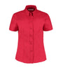 Kustom Kit KK701 Ladies' Corporate Short Sleeve Oxford Shirt Red