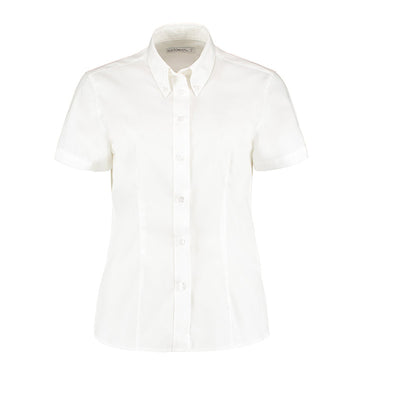 Kustom Kit KK701 Ladies' Corporate Short Sleeve Oxford Shirt White