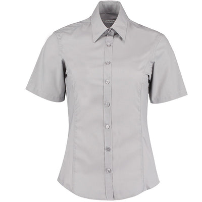Kustom Kit KK742F Ladies' Business Shirt Silver Grey