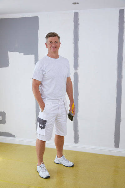 ProDec Advance Painters Decorators Shorts White & Grey