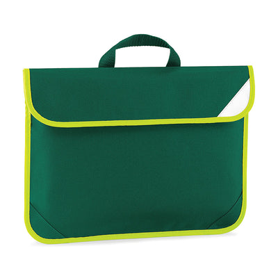 Quadra Enhanced-Viz Book Bag Bottle Green
