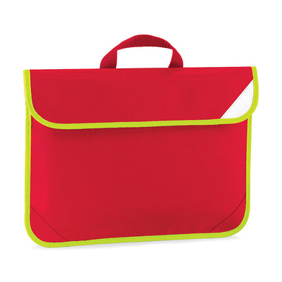 Quadra Enhanced-Viz Book Bag Classic Red