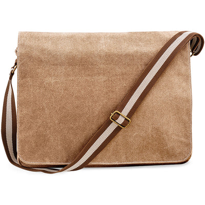 Quadra Vintage Canvas Despatch Bag Sahara