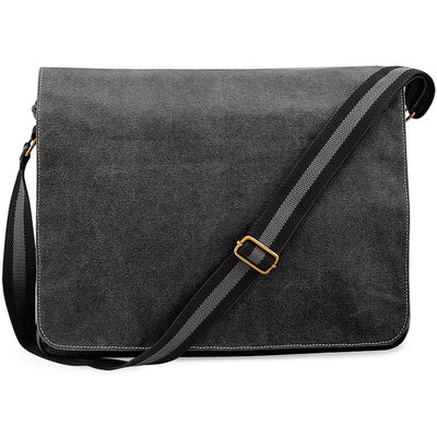 Quadra Vintage Canvas Despatch Bag Vintage Black