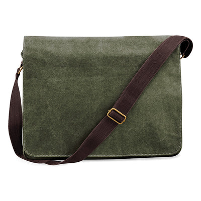 Quadra Vintage Canvas Despatch Bag Vintage Military Green