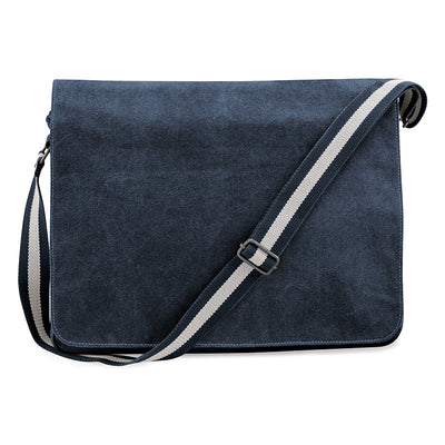 Quadra Vintage Canvas Despatch Bag Vintage Oxford Navy