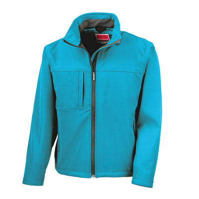 Result R121M Men's Classic Softshell Jacket Azure Blue