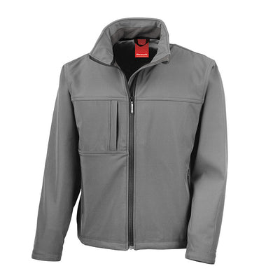 Result R121M Men's Classic Softshell Jacket Workguard Grey