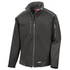 Result R124X Ripstop Workwear Softshell Jacket Black / Black