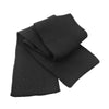 Result Winter Essentials R145X Classic Heavy Knit Scarf Black