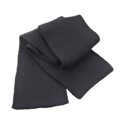 Result Winter Essentials R145X Classic Heavy Knit Scarf Charcoal Grey