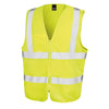 Result Safe-Guard Zip Safety Tabard Hi-Vis Yellow