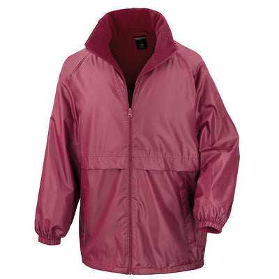 Result Core R203X Microfleece Lined Jacket Burgundy