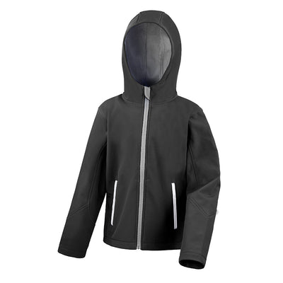 Result Core R224JY Junior TX Performance Hood Softshell Black / Grey