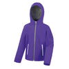 Result Core R224JY Junior TX Performance Hood Softshell Purple / Grey