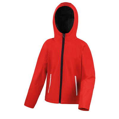 Result Core R224JY Junior TX Performance Hood Softshell Red / Black