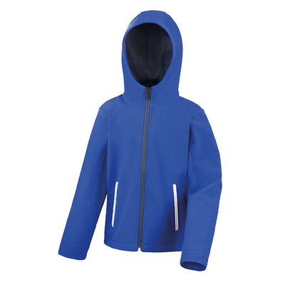 Result Core R224JY Junior TX Performance Hood Softshell Royal / Navy