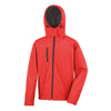 Result Core R230M Mens TX Performance Hooded Softshell Jacket Red / Black