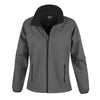 Result Core R231F Ladies Printable Softshell Jacket Charcoal / Black
