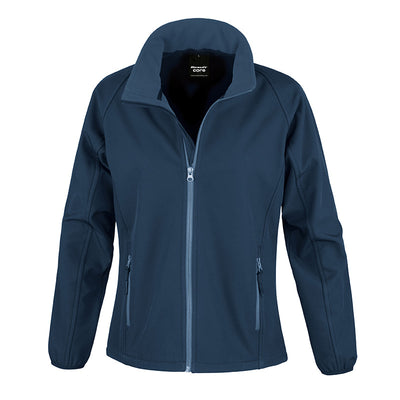 Result Core R231F Ladies Printable Softshell Jacket Navy / Navy