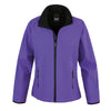 Result Core R231F Ladies Printable Softshell Jacket Purple / Black