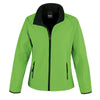 Result Core R231F Ladies Printable Softshell Jacket Vivid Green / Black