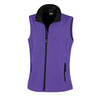 Result Core R232F Ladies Printable Softshell Bodywarmer Purple / Black