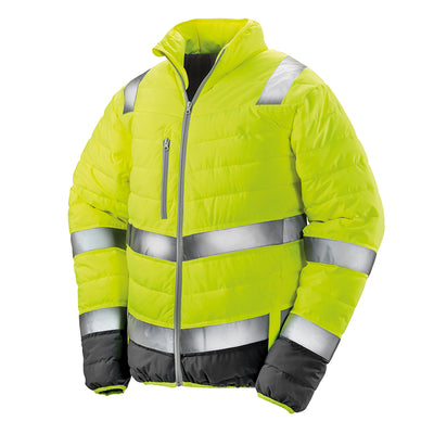 Result Safe-Guard Mens Soft Padded Safety Jacket Fluorescent Yellow